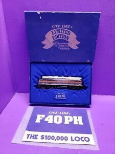 LIFE-LIKE AMTRAK 229 HO SCALE F40 PH THE $100,000.00 LOCOMOTIVE LIMITED EDITION