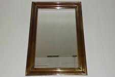 "Lacquered brass wall mirror Mastercraft ? Era 21"" X 31"" Hollywood Regency"