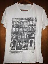 Led Zeppelin- Physical Graffiti Rare Lic Oop White T-Shirt- Medium