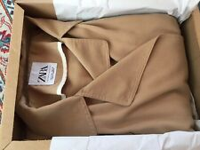 ZARA CAMEL FLOWING TRENCH COAT, SIZE M-BNWT, RP £70