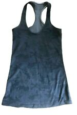 LULULEMON CRB COOL RACERBACK Tank Top BLACK CAMO size 4 Run Gym Fun EUC