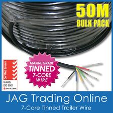 50M x 7-CORE MARINE GRADE TINNED TRAILER WIRE-AUTO/BOAT/CARAVAN ELECTRICAL CABLE