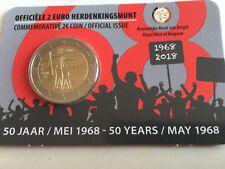 2 EURO BELGIQUE 2018 50 ANS MAI 68 COMMEMORATIVE NEUVE VERSION PAYS BAS