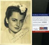 OLIVIA DE HAVILLAND PSA DNA Coa Autograph 1940`s 5x7 Photo Hand Signed