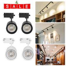 2pcs COB 30W LED Track Rail Lamp Aluminum Adjustable Store Office Home Spotlight