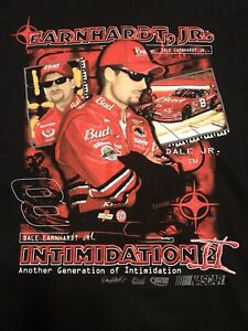 """Dale Earnhardt Jr """"Another Generation Of Intimidation""""  NASCAR XL T shirt 2001"""