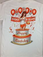 Hooters Happy Birthday T-Shirt Mens Small Make A Wish Cleavage NEW Pop Out Cake