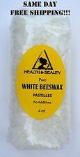 WHITE BEESWAX BEES WAX ORGANIC PASTILLES BEADS PREMIUM 100% PURE 4 OZ