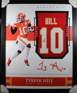 TYREEK HILL Signed/Autographed Custom Jersey 35x43 Framed - JSA Certified