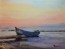 Contemporary Art/ Original Painting by American Artist M.Hee / Seascape