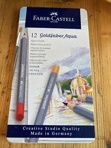 FABER CASTELL GOLDFABER PENCILS IN TIN SET OF 12  - Aqua ART PENCILS