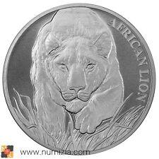 CHAD 5000 Francos 2017 León Africano 1 Onza de plata (S/C) TCHAD 1 Once Argent
