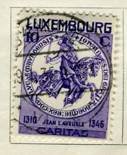 LUXEMBOURG; 1934 early Charity Stamp issue used 10c. value