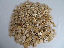 1000 Official Wooden SCRABBLE Tiles Crafts Scrapbooking