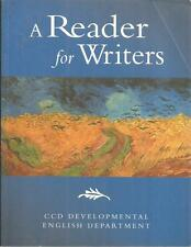 A Reader for Writers CCD Developmental English Department 2006 pb Bret Hann