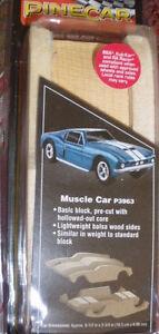 PINECAR FULL BODY PRE-CUT DESIGNS MUSCLE CAR P3963