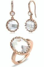 Cubic Zirconia Rose Gold Fashion Jewellery Sets