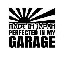 JDM OEM Made in Japan Rising Sun Garage Tuning Folie Decal schwarz 12 x 10 cm
