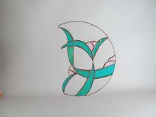 Vintage Stained Glass Suncatcher Signed Oak Ridge Studios 1987