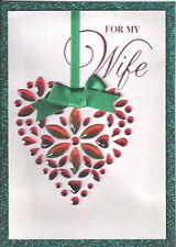 PAPYRUS CHRISTMAS CARD NIP MSRP $8.95 WIFE W/RED RHINESTONES CARD (I*1)