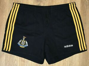 Newcastle Falcons RARE vintage 90s adidas rugby shorts size L-XL