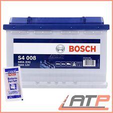 BOSCH S4 008 74Ah 680A 12V AUTO-BATTERIE STARTERBATTERIE+10g POL-FETT 31837764