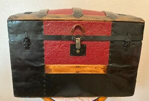 Vintage Farmhouse Newly Refinished Antique Heirloom Trunk