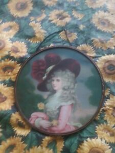 Vintage Flu Chimney Cover Beautiful Victorian  Woman