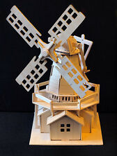 WINDMILL - 3D Wooden Model Puzzle - Construction kit