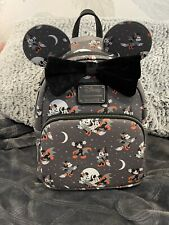 More details for halloween vampire minnie/mickey loungefly mini backpack and ears bnwt