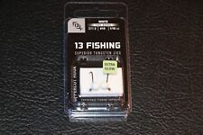 13 Fishing Dude Jig - White Glow - Pack of 2 #10 1/16 oz Hook Ice Fishing Jig