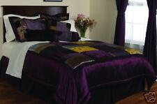 Milan Eggplant Cal-King Comforter Bedding Set