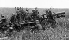 B&W Photo WW2 German Soldiers with Cannon, WWII Germany World War Two Wehrmacht