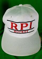 Vintage White Bars Snapback Hat The Game RPI Hockey Renssellaer HTF