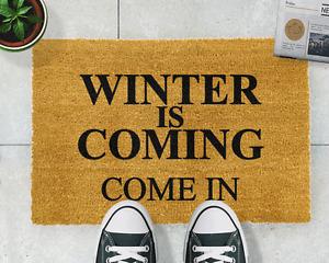 Winter is coming doormat (Game of Thrones quote)