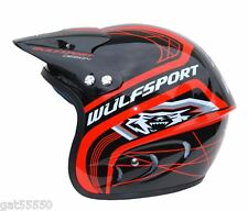 RED WULFSPORT TRIALS HELMET (ALL SIZES) WULF BETA SHERCO MONTESA GASGAS REV
