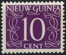 Netherlands New Guinea 1950-2 SG#8, 10c Purple Definitive MH #E13752