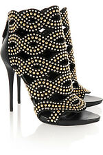 New Alexander McQueen Studded Leather and Suede Boots - RRP £1295, Size 36