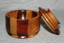 Tasmanian Multi-Timber Blackwood Sas Bowl Trinket Dish w/ Lid Jewelry Box- BC18H