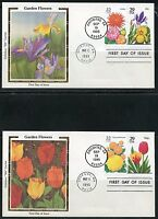 UNITED STATES COLORANO 1993  SET OF FIVE  GARDEN FLOWERS FIRST DAY COVERS