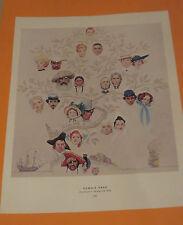Norman Rockwell FAMILY TREE & TRIPLE PORTRAIT 1959 Original Book Pressing Print