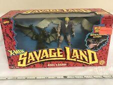Marvel X-men Savage Land Angel & Sauron Action Figures Sealed Box 1997