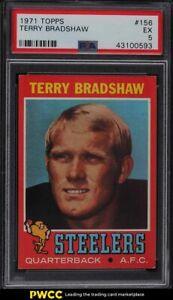 1971 Topps Football Terry Bradshaw ROOKIE RC #156 PSA 5 EX