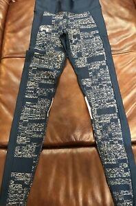 NWOT women's Under Armour compression yoga sweat pants size S blue ankle length