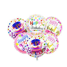 18'' Happy Birthday Colorful Dots Letter Helium Inflatable Foil Balloon Decor