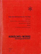 1964 HENSCHEL HS 22 / HS 26 BETRIEBSANLEITUNG BORDBUCH OWNER'S MANUAL DEUTSCH