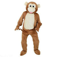 Chic Monkey Animal Unisex Mascot Costume Suit Cosplay Party Dress Outfit Adult