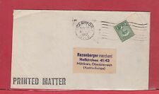 War Issue 1c printed matter to Austria Canada cover 1947