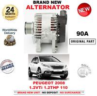FOR PEUGEOT 2008 ESTATE 1.2 VTi THP 110 ALTERNATOR 2013-ON BRAND NEW 90 AMP UNIT