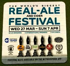 Real Ale And Cider Festival Beer Mat